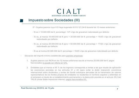 decreto ley 32012 de 24 de julio por el que se modifica real decreto ley 20 2012 de 13 de julio