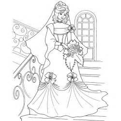 Coloriage De Princesse Qui Se Marie A Imprimer