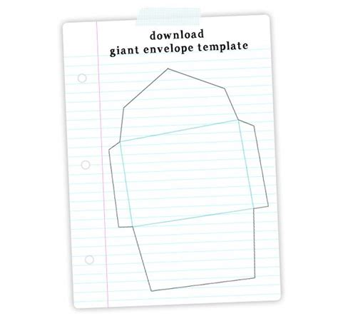 template for a card envelope free envelope template print me for