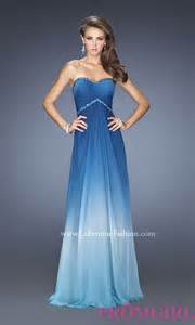 strapless long ombre dress ombre prom gowns promgirl