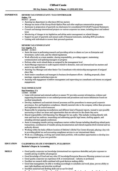 Tax Consultant Resume by Tax Consultant Resume Sles Velvet