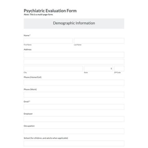 psychiatric evaluation form template psychiatric assessment template gallery template design