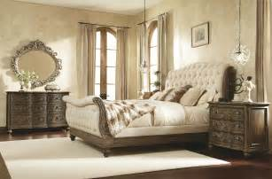 Tufted Headboard And Footboard King Sleigh Bed With Linen Tufted Headboard And Footboard By American Drew Wolf And Gardiner