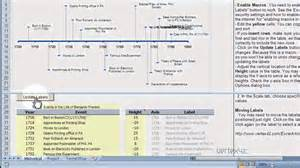 timeline template demo create a timeline using excel