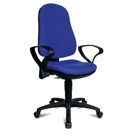 exercise office chair with armrests topstar support p office chair 103 113 cm height blue
