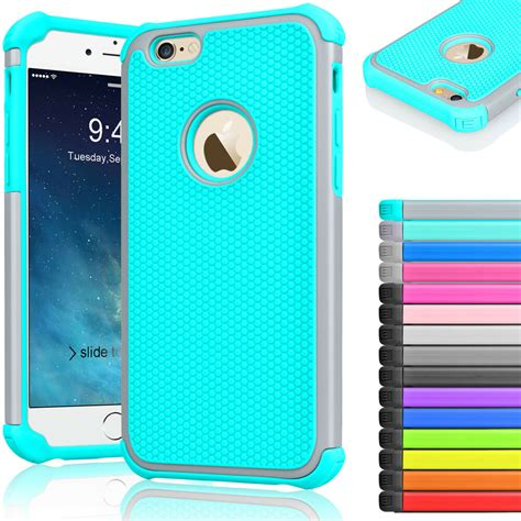 rugged rubber shockproof cover for iphone 7 6 6s 4 7 quot 5 5 quot plus ebay