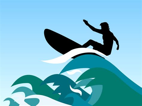 surfing clipart surfing wave clip cliparts
