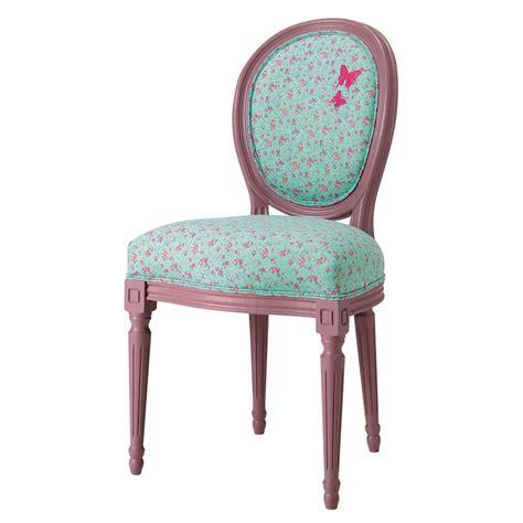 chaise imprim 233 e fleurs louis maisons du monde