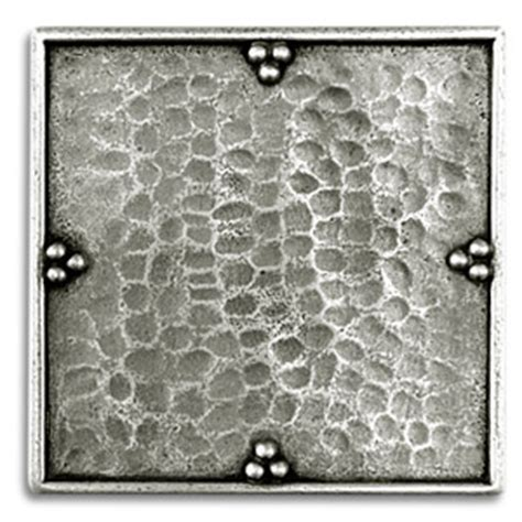 2x2 Metal Accent Tiles by Savanna 2x2 Inch Pewter Tile Metal Tile Accent Tiles