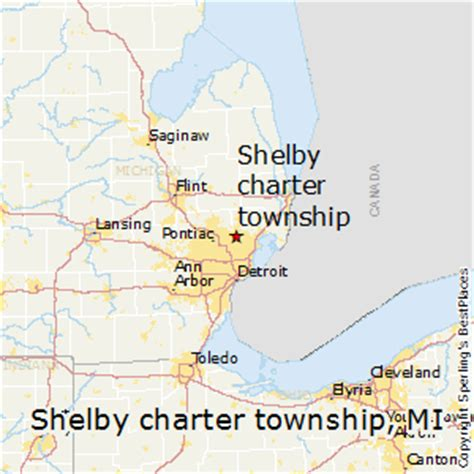 shelby township mi map map of shelby township michigan michigan map