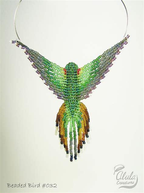 beaded bird pattern beaded bird necklace hummingbird suncatcher 3d bead bird
