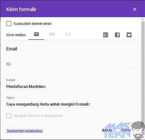 membuat email menggunakan google cara mudah membuat formulir online dengan google form