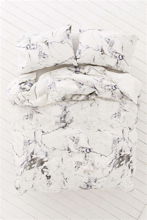 marble bed sheets marble duvet cover from urban outfitters decoist