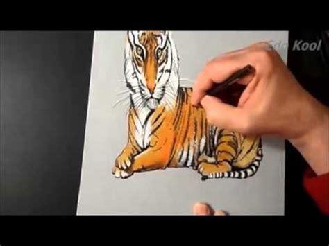 cara membuat gambar abstrak cara membuat gambar harimau 3 dimensi menggunakan pensil