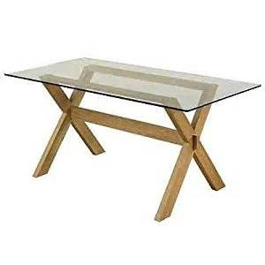 Dining Table Frame Only Crossed Leg Frame 5ft Solid Oak Dining Table With Glass