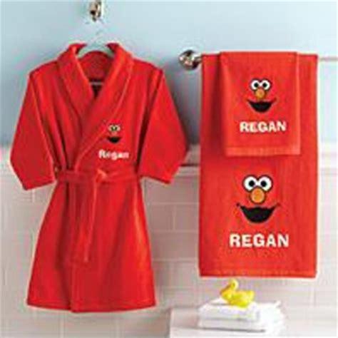 elmo bathroom accessories elmo robe and towel set mbc s favorite things