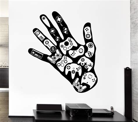 vinyl wall stickers gamer wall decal video game play room boys vinyl stickers
