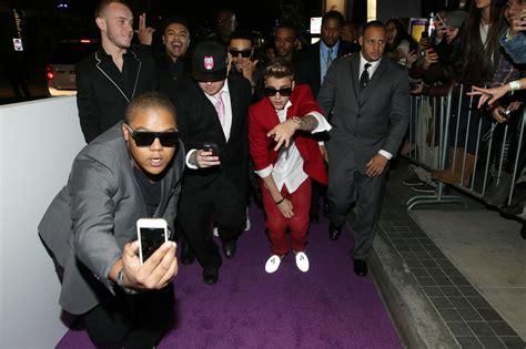 Justins Premiere by Justin Bieber S Los Angeles Believe Premiere