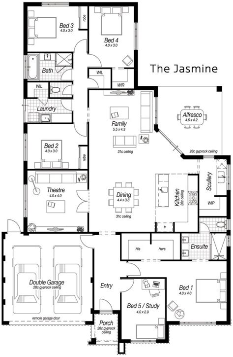 single storey floor plan 17 best ideas about single storey house plans on pinterest