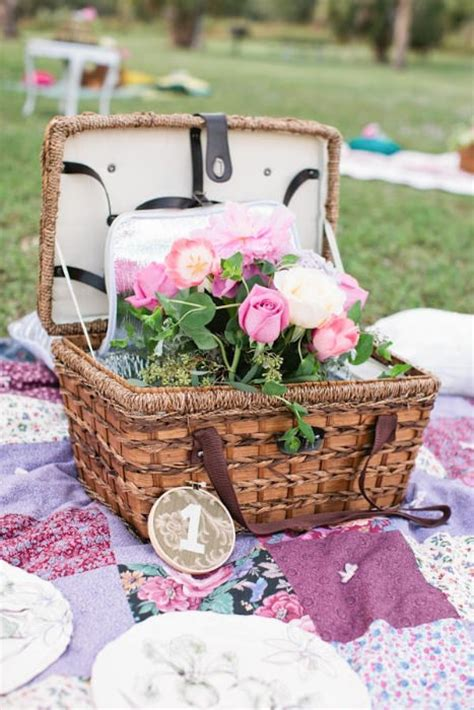 picnic basket ideas picnic wedding ideas