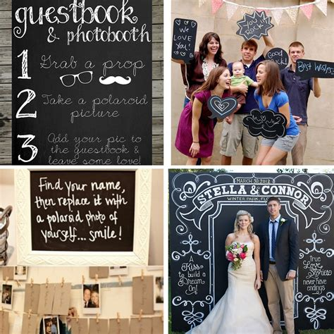 diy chalkboard photo booth chalkboard favor weddingwise