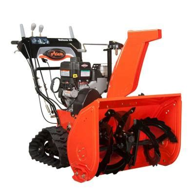 ariens deluxe track 28 in two stage electric start gas