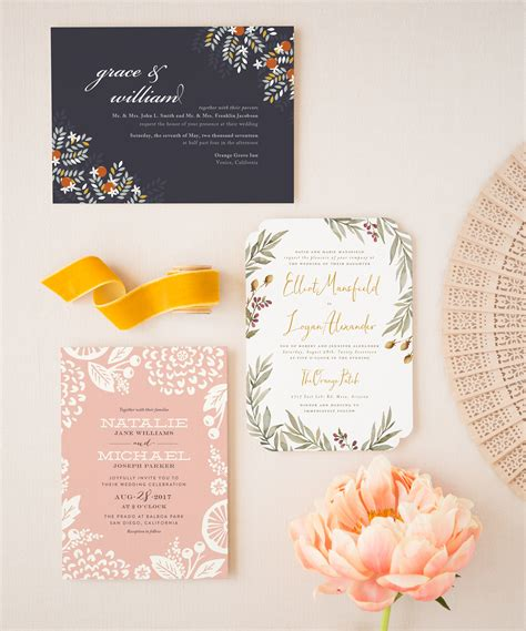 wedding invitation trends 2017 new wedding stationery ideas for 2017 instyle