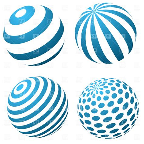 free vector clipart set of 3d spheres royalty free vector clip image 1220
