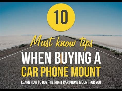 10 Tips On Buying A New Car by Webinar 10 Must Tips When Buying A Car Phone Mount