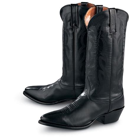 s nocona boots s nocona 174 13 quot kangaroo western boots black 122845