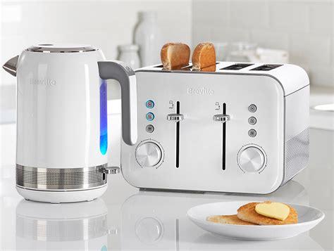 4 Slice White Toaster Breville Vtt687 4 Slice High Gloss Toaster White Amazon