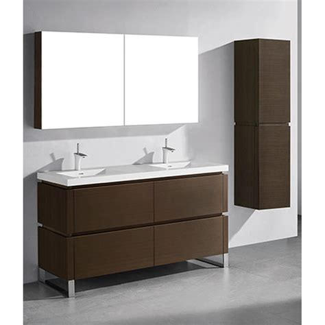 Bathroom Vanities Free Shipping Madeli Metro 60 Quot Bathroom Vanity For Integrated Basin Walnut Free Shipping Modern