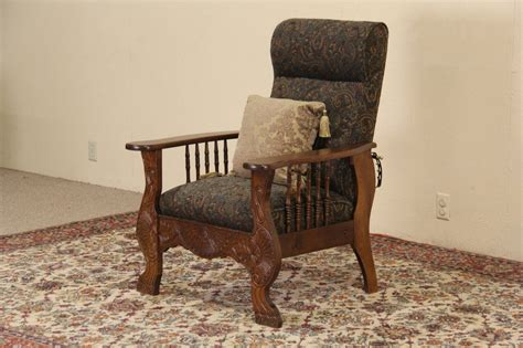 antique mission recliner chairs sold morris chair 1900 antique oak adjustable recliner
