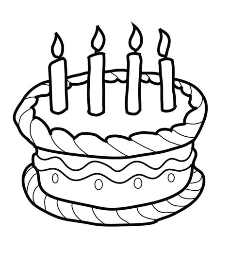 happy birthday cakes coloring pages happy birthday cake kids coloring pages dhaka21 com