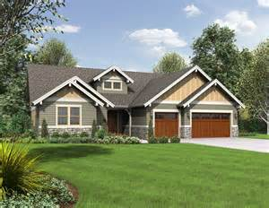 Single Story Craftsman House Plans by House Plan The Lincoln Craftsman House Plans