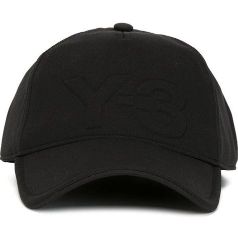 Baseball Hat Black y 3 logo baseball cap 75 liked on polyvore featuring