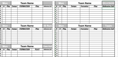 football depth chart template excel blank football depth chart template 28 images blank