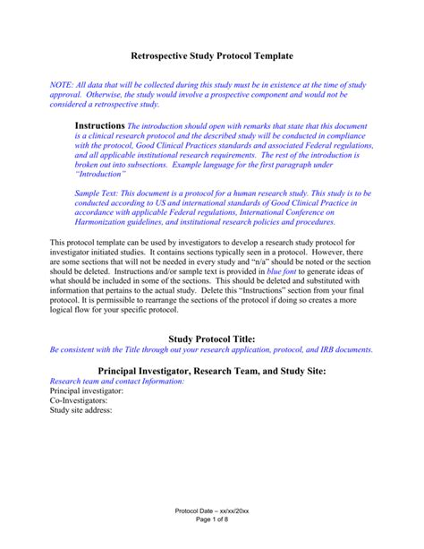 research protocol template irb protocol template ideas resume ideas www