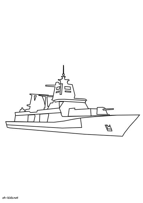 dessin bateau guerre coloriage bateau de guerre oh kids fr