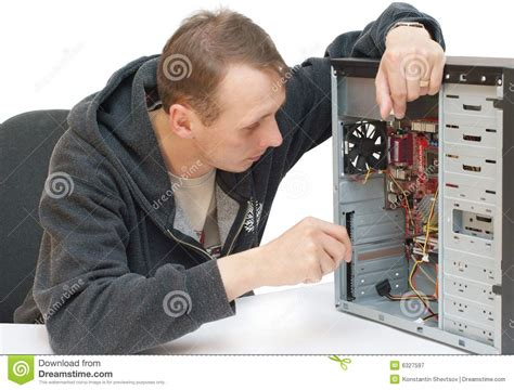 Computer Repair Tech by Computer Repair Royalty Free Stock Photography Image 6327597