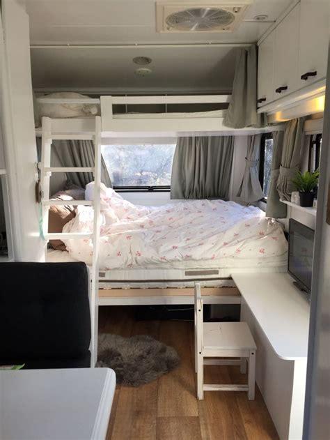 cervan bedding and curtains best 25 caravan bunks ideas on pinterest rv bunk beds