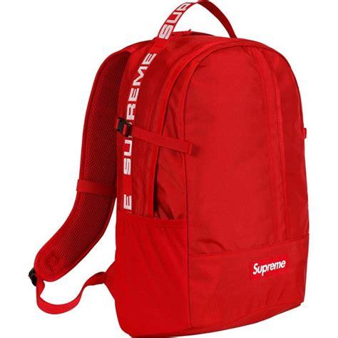 supreme bag supreme backpack ss18 bags strictlypreme
