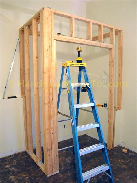 Closet Door Framing How To Build A Basement Closet Part 4