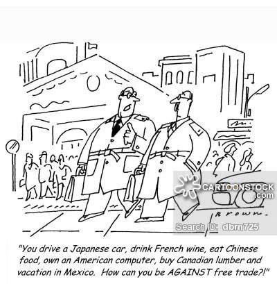 Alat Pres Plastik Jajan und karikaturen mit globalisierung
