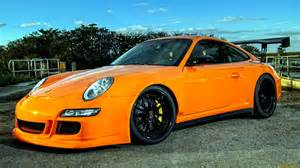Orange 911 Porsche Porsche 911 Gt3 Tuning Orange Sportcar Wallpaper