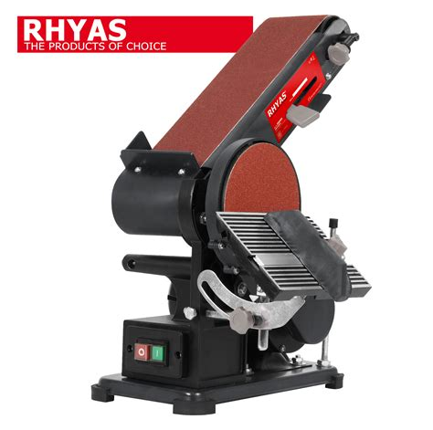 bench sanders rhyas electric belt bench disc mitre sanding sander sand linisher adjustable ebay