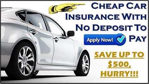 Cheap Car Insurance Deposit cheap no deposit car insurance policy low deposit zero