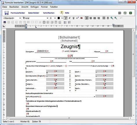 Zeugnisse Schreiben Muster Rorig Software Hilfe Zeugnisformulare Ver 228 Ndern Oder Eigene Formulare Selbst Erstellen