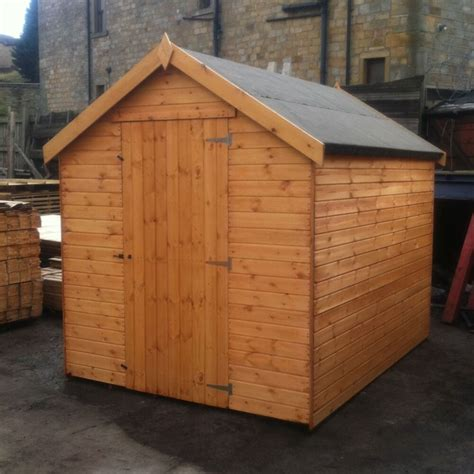 wooden garden shed  mm tounged  grooved