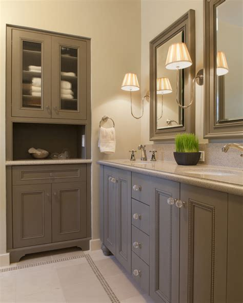cabinet knobs bathroom with baseboards